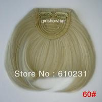 Fashion Hair bang,clip in hair bang,Neat hair bang,synthetic hair bang, Classical style hair fringe, color 60#