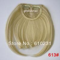 Fashion Hair bang,clip in hair bang,Neat hair bang,synthetic hair bang, Classical style hair fringe, color 613#
