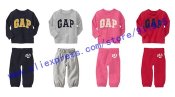 RETAIL 3 colors brand baby children's long sleeve clothing set Hoodies coat +pants boy / girl kids sport suit spring autumn