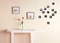 DIY digital clock, art wall clock, wall decoration, DIY personalized watches   Free Shipping