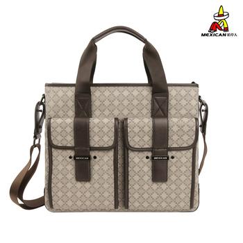 Check male handbag casual all-match commercial shoulder bag pvc patchwork messenger bag , Christmas gift present, on sale