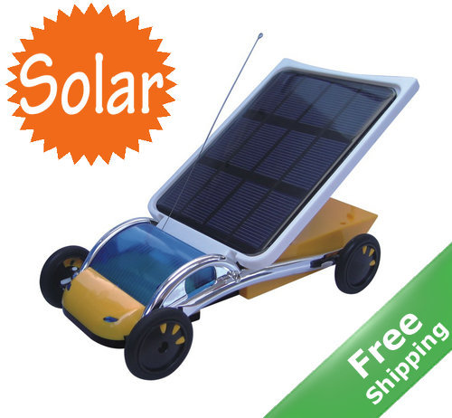 solar powered toy car+ Solar powered+2.5 kilometers per hour+Solar Car experiment toy+ Free shipping(China (Mainland))