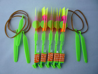 5PC Perfect Green Slingshot Flying Helicopter Blue LED