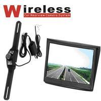 A set of Wireless night vision reversing 120 degree waterproof webcam lcd Visual set parking camera and monitor