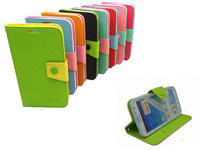 20PCS/lot Ultra-thin Leather Flip Stand Holder Pleastic Skin Back Case Cover for Samsung Galaxy Note 2 N7100 Phone Case