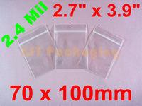 "1000 PCS Poly Ziplock Reclosable Zipper Bags 2.4 Mil_2.7"" x 3.9""_70 x 100mm FREE SHIPPING"