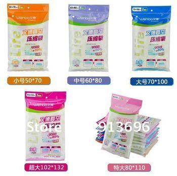 home clothing vaccum compressed bag, vacuum space saving storage bag/ Organizer  S. M, L, XL, XXL size for choice