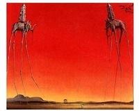 Salvador Dali Oil Painting Repro:Elephants