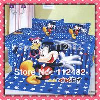 3pcs Bedding Set Cartoon Mickey mouse Cotton children Kid Bedding Free Shipping