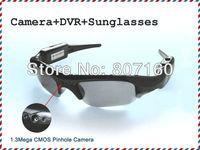 Super Deal Free Shipping Mini DV Sunglass Recorder with Camera Support TF Card Storage Mobile Eyewear Recorder 720x480 JPG AVI