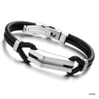 hot Wholesalel free shipping 316L stainless steel bracelet, Men's Bracelet Slicone bangle 10mm width bracelet, free shipping