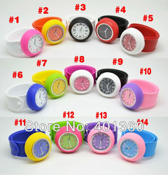 Gaga Deal :High quality Quartz Colorful Candy Girl&#39;s Women Slap Wrist watch for women gift, FREE SHIPPING(China (Mainland))