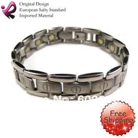"Free Shipping Fashion Jewelry Healing Magnetic Bracelet Titanium 8"" Magnetic Titanium Bracelet ys-078"