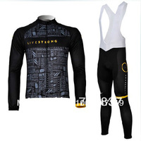 free shipping!livestrong 2012 team long sleeve cycling jersey and bib pants/bicycle jersey/bike wear/cycle clothing