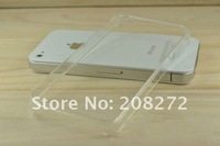 10pcs/lot Wholesale Hard Plastic clear crystal transparent cases for iphone 4G iphone 4S Free Shipping