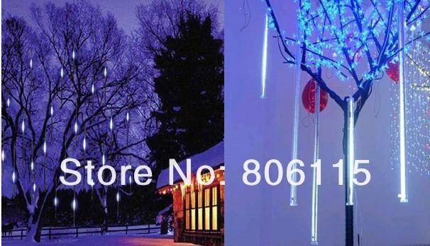 30CM Tube 160 LED White Mini Snowfall Meteor LED Lights Wedding Outdoor,LED Meteor light(China (Mainland))