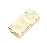 5pcs/lot Gold Bullion Bar Shaped Windproof Cigarette Lighter,Free shipping