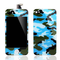 For iphone 4S replacement Navy Camouflage kit ,for iphone 4S glass full housing conversion kit