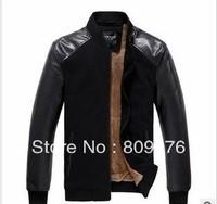 Men leather jacket,fur inside kepping warm outwear.winter coat.free shipping by DHL