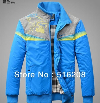 2012 New outdoor men casual fashion sports jacket hing quality coat Black Blue free shipping AS848