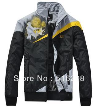 2012 winter new leisure fashion sport coat stand collar hing quality jacket Black Gray L XL XXL XXXL XXXXL AS850