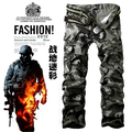 Free shipping male men's clothing fashion multi-pocket casual overalls camouflage pants [two color to select](China (Mainland))