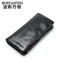 Casual male long design wallet cowhide large wallet Genuine leather male day clutch  b30131