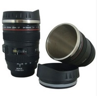 Free shipping stainless steel Coffee camera lens mug cup (Caniam) logo the 5th generation Wholesale