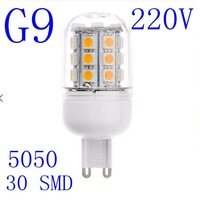 G9 220V 5W Cold white / Warm White 360 Degree 5050 SMD 30Led Light Bulb Lamp Energy Saving #1055