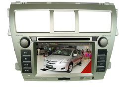 Special Car DVD Player For Toyota-Vios (new) With GPS, Bluetooth, iPod, Automatic back sight function for car backing(China (Mainland))