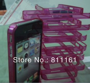 1000pcs/lot Case For iPhone 4S Bumper Plastic For iPhone Bumper Frame Perfect Fit For iPhone4 Cell Phone Accessory For Apple