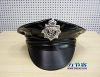 Masquerade halloween supplies PU police cap police cap cos props