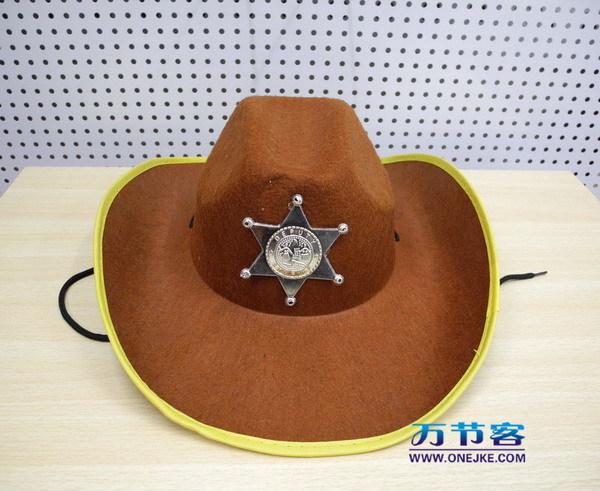 Masquerade halloween supplies badge cowboy hat police cap(China (Mainland))
