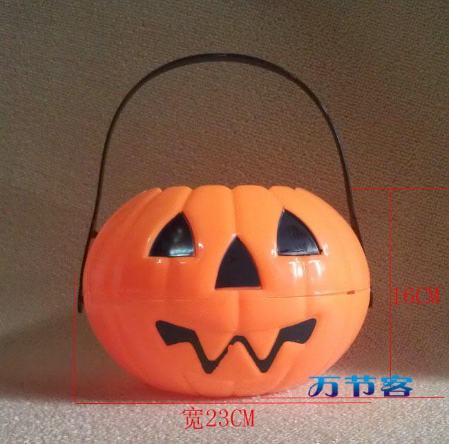 Pumpkin candy bucket pumpkin portable lantern halloween pumpkin lamp split type(China (Mainland))