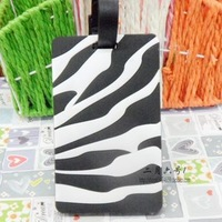 Wholesale Promotion Gifts/ Zebra Luggage Tags/ Cheap Travel Accessories/ Free Shipment 20pcs/lot