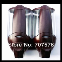 Free Shipping Europea Style Hi-Q ABS Manual Double lotion Dispenser Plastic Soap dispenser TSD2012R Wine red 2*350ml New arrival