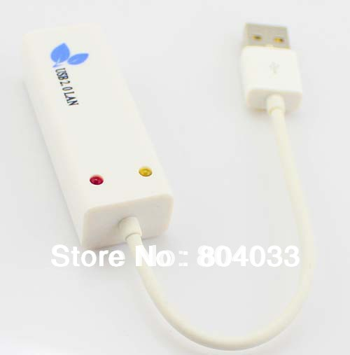New USB 2.0 Ethernet 10/100 RJ45 Network Lan Adapter Card Win7 and Apple MacBook Air Free Shipping(China (Mainland))