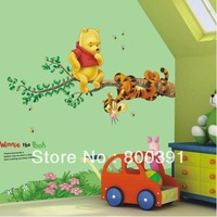 Free shipping Little Bear Whosale Kid's room decorations Removable Wall Sticker 703,1PCS drop shipping
