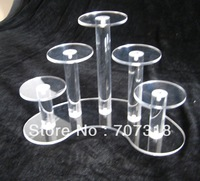 NEW Wholesale Acrylic 5Pedestal Grouping For Cake Holder easy to clean
