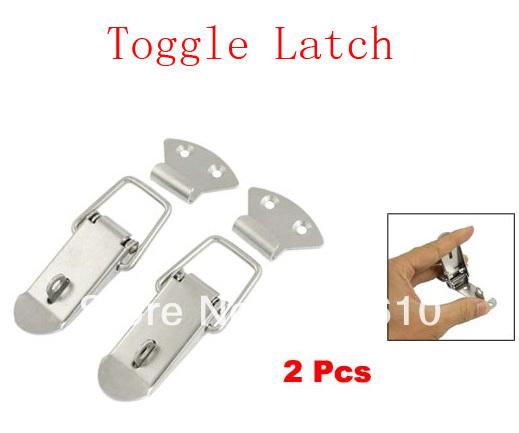 "5.3"" Long Aviation Toolbox Silver Tone Toggle Latch 2 Pcs(China (Mainland))"