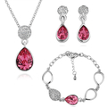 HOT SELL Wholesale 18K Gold Plated Jewelry Set Crystal Pendant  ZB00001