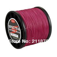 Free shipping  100% dyneema spectra braided fishing line 1000m pink 6LB10LB15LB20LB30LB40LB50LB65LB80LB100LB