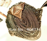 2012 popular Punk tassel brooches medal badges/fringed epaulets corsage brooch pin badges/button badges/emblems/patches