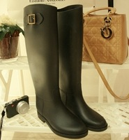 Vc riding boots star fashion knee-high rain boots slimmly  rubber shoes vintage water shoes