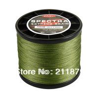 Free shipping  100% dyneema spectra braided fishing line 1000m  grass green 6LB10LB15LB20LB30LB40LB50LB65LB80LB100LB