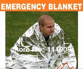 Free ship/EMS,2.1*1.3m Silvery Foil Thermal Rescue Blanket,Life-saving blanket,SOS emergency blanket as first-aid survival tool!