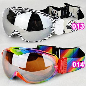 17colors ski goggles Free shipping Winter anti-ultraviolet& fog snowmobile skiing glasses Men Women christmas Snowboard googles