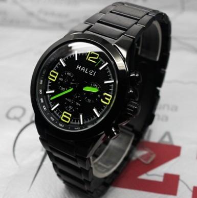 halley black steel strip male watch
