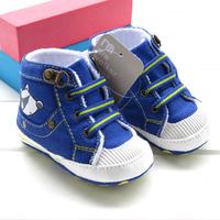 New arrival fashion tianlan antique denim baby boy shoes free shipping