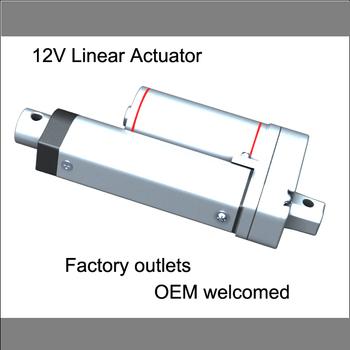 "Linear Actuator 12v : 8"" Stroke, 12V, 200mm stroke,750N push load"